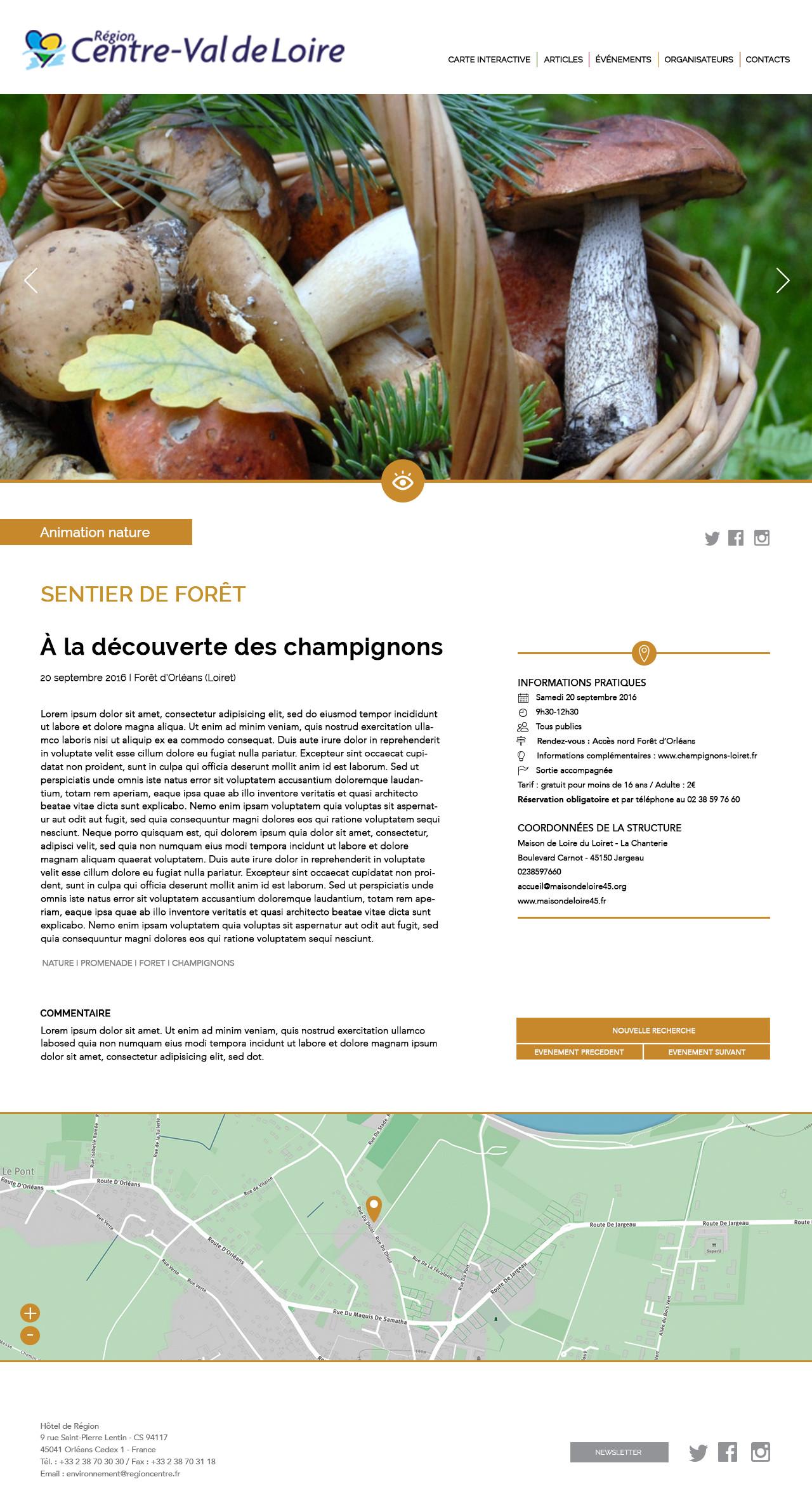 Site internet Région Centre