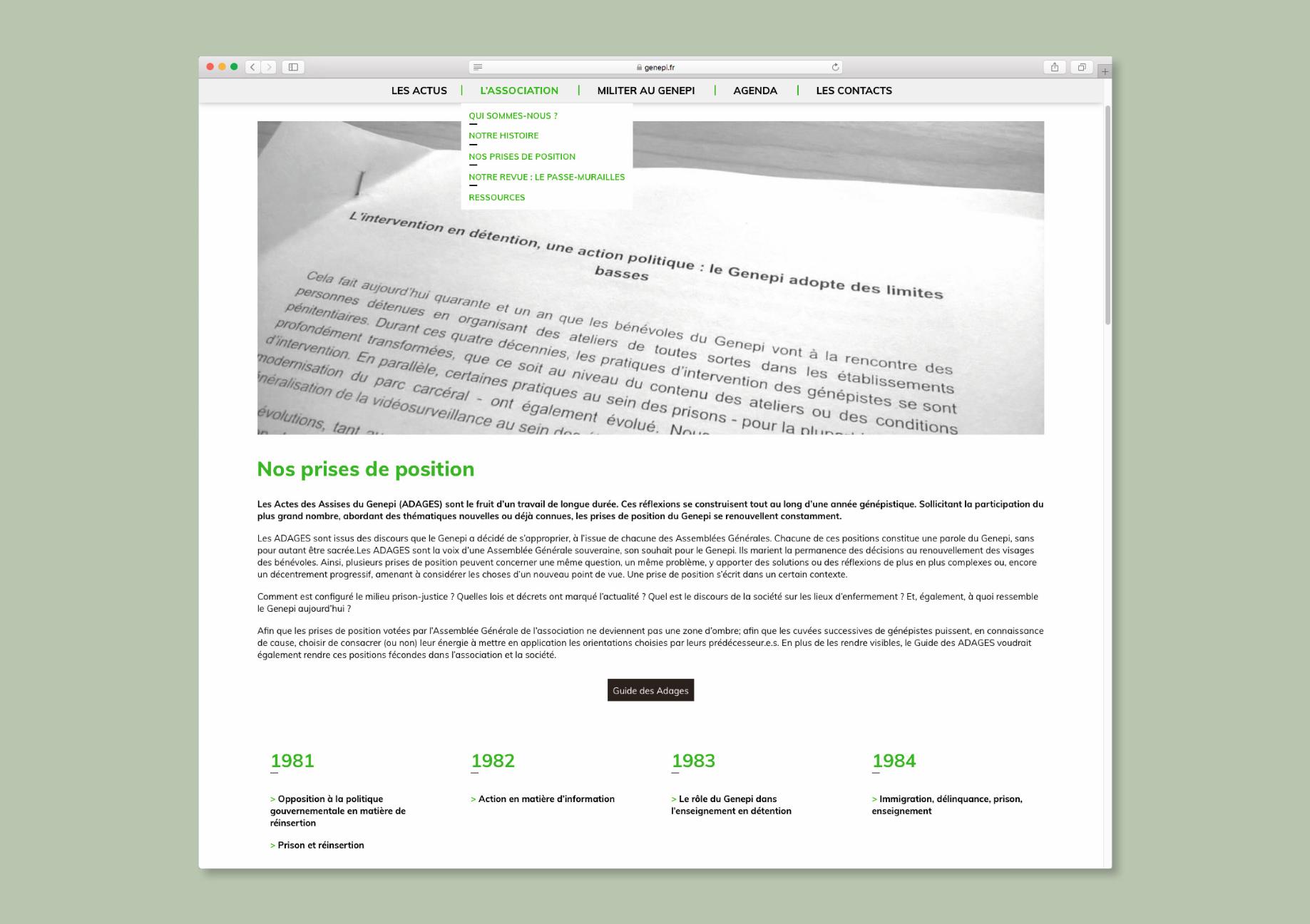 Site internet Genepi